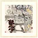 Artron 雅昌 袁野《晨妆》88×88cm 新中式现代花卉风景国画水墨画633元