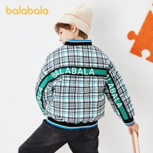 balabala 巴拉巴拉 中大童洋气格纹外套