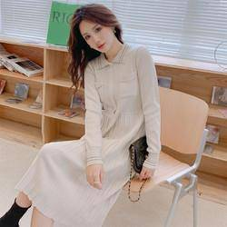 TONLION 唐狮 女法式毛织连衣裙 62612FC0104492102