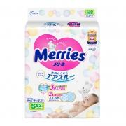 88VIP:Merries 妙而舒 婴儿纸尿裤 S 82片*2件109.19包邮(需用券,合54.6元/件)