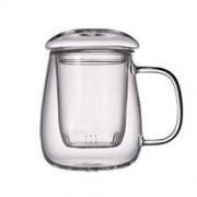 SEADREAM 水之铭 玻璃茶杯带把盖杯 500ml
