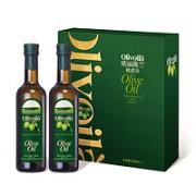 olivoilà 欧丽薇兰 纯正橄榄油 500ml*2瓶 礼盒装