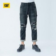 CAT 卡特彼勒 男士破洞牛仔长裤 CI3JEN22141C78132元+运费(需用券)