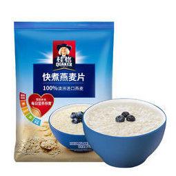 QUAKER 桂格 早餐谷物 无额外添加蔗糖 膳食纤维 快煮 快熟 燕麦片 1000克