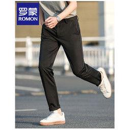 PLUS会员:ROMON 罗蒙 男子薄款宽松直筒长裤 HDF229A