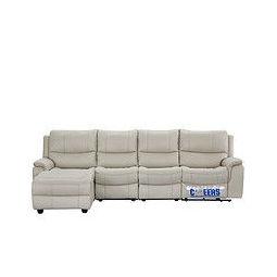CHEERS 芝华仕 5756 现代简约科技布四人沙发 米白色 左脚位