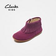 Clarks 其乐 女童牛皮短靴