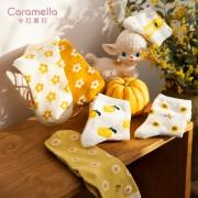 Caramella 女日系韩版中筒袜 2双装*4 多种款式
