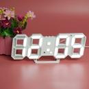 led电子钟 创意夜光数字闹钟客厅挂钟 静音台式数字钟表 ins韩版时尚电子时钟 白色
