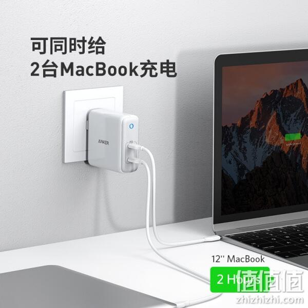 ANKER 安克 A2029 Type-c双口充电器 PD60W 苹果iphone13/12/11/Xs手机MacBook华为小米笔记本适配器iPad快充插头