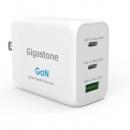 Gigastone 3口65W氮化镓充电器PD-7650W 2 个 USB-C + 1 个 USB-A,兼容 iPhone、iPad Pro、MacBook Pro、AirPods、Nintendo Switch、Android