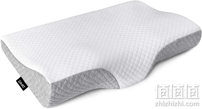 ZAMAT 无味泡沫枕,颈痛颈枕,可调节人体工程学颈枕,支撑床枕,适用于侧睡、背部和腹部