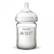 AVENT 新安怡 自然顺畅系列 玻璃奶瓶 160ml 配0月+奶嘴74元