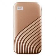 Western Digital 西部数据 My Passport SSD系列 NVME 移动固态硬盘 Type-C 1TB 繁星金 时尚版