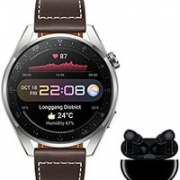 HUAWEI 华为 Watch 3 Pro Classic 4G 智能手表 + Freebuds Pro 无线蓝牙耳机