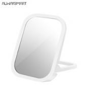 AlwaySmart 多功能手机支架 化妆镜 时尚白