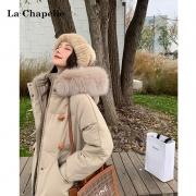 La Chapelle 拉夏贝尔 914613432 女士中长款棉服外套249元包邮