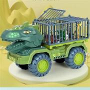PLUS会员:凌速 运输恐龙车玩具38cm长+3只恐龙+恐龙蛋+树模型24元包邮(多重优惠)