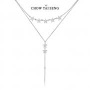 CHOW TAI SENG 周大生 繁星锁骨链 S0PC0069129元 包邮