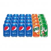 88VIP:pepsi 百事 可乐原味16罐+美年达橙味4罐+7喜柠檬味4罐 共330ml*24罐*3件112.76元包邮(双重优惠,合37.59元/件)
