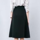 ONEBUYE 晚白 WB9121116203 女士高腰A字半身裙86元+运费(需用券)
