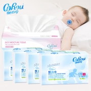 CoRou 可心柔 V9婴儿保湿抽纸 40抽*4包+110抽*1包9.61元包邮+29淘金币