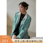 DUSHU 独束 21DS2466 女装复古西装外套