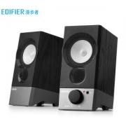 EDIFIER 漫步者 R19U 2.0声道 桌面 多媒体音箱 黑色