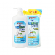 88vip:Pigeon贝亲 婴儿果蔬奶瓶清洗剂 套装1300ml +需凑单45.53元包邮(需用券,合29.63元/件)