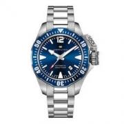 HAMILTON 汉米尔顿 卡其海军潜水系列 H77705145 男士机械手表 42mm 蓝色 银色 精钢