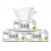 PLUS会员:C&S 洁柔 布艺无香系列 抽纸 3层100抽24包(195*123mm)25.9元包邮(双重优惠)