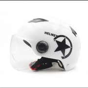 ZDK 哈雷电动车个性星星头盔 白色6元包邮(需用券)