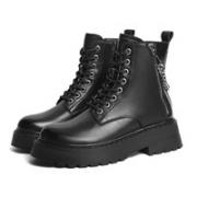 BaiLi 百丽 B0679DD1 厚底系带英伦风短靴