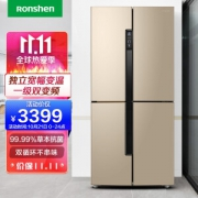 Ronshen 容声 BCD-456WD11FP 对开门冰箱 456L 钛空金3399元