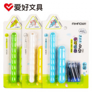 AIHAO 爱好 2948 钢笔套装(钢笔1+魔笔1+6晶蓝色可擦墨囊)随机款¥3.12 1.4折