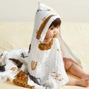 babycare 婴儿纱布带帽浴巾 经典系列¥67.00 1.4折
