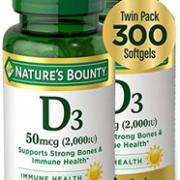 Nature's Bounty 自然之宝 液体维生素D3软胶囊 2000IU*150粒*2瓶¥112.47