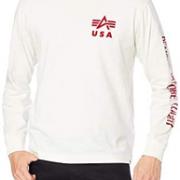 L码!Alpha Industries 阿尔法 男士纯棉长袖T恤 TC1430 到手¥109.01