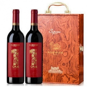 AUSWAN CREEK 天鹅庄 原瓶原装进口红酒 天鹅庄干红葡萄酒双支红酒礼盒 1号西拉双支木盒 750ml*2