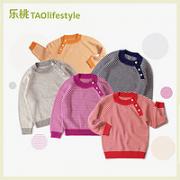 TAOlifestyle 乐桃和家 儿童条纹针织衫¥29.00 1.3折