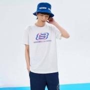 SKECHERS 斯凯奇 L121U154 男子短袖T恤