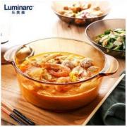 Luminarc 乐美雅 琥珀直烧锅套装 ( 2L 3L) 餐具十件套 手套 锅垫