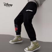 Disney 迪士尼 男童加绒运动长裤