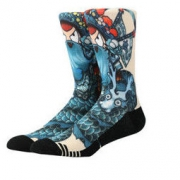 LEEME.ME 粒米 神兽系列 男士棉质中筒袜 JS1710003 巧戏青龙