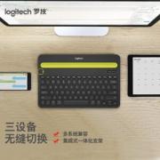 PLUS会员、亲子会员:logitech 罗技 K480 无线蓝牙键盘 黑色 无光108.02元