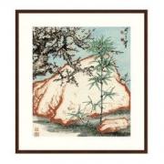Artron 雅昌 关山月《三清图》茶褐色 142×116cm 新中式风景国画水墨画