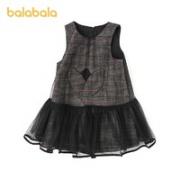 balabala 巴拉巴拉 儿童格纹公主裙 90cm