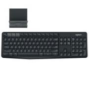 logitech 罗技 K375s 104键 2.4G蓝牙无线薄膜键盘 黑色 无光117.05元包邮(需用券)