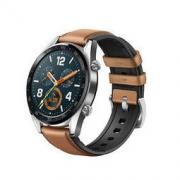 HUAWEI 华为 Watch GT 时尚款 智能手表 46mm 黑色陶瓷表圈 棕色皮胶表带(北斗、GPS、NFC)889元