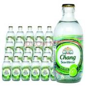 PLUS会员:Chang 象牌 苏打水饮料 青柠味 325ml*24瓶